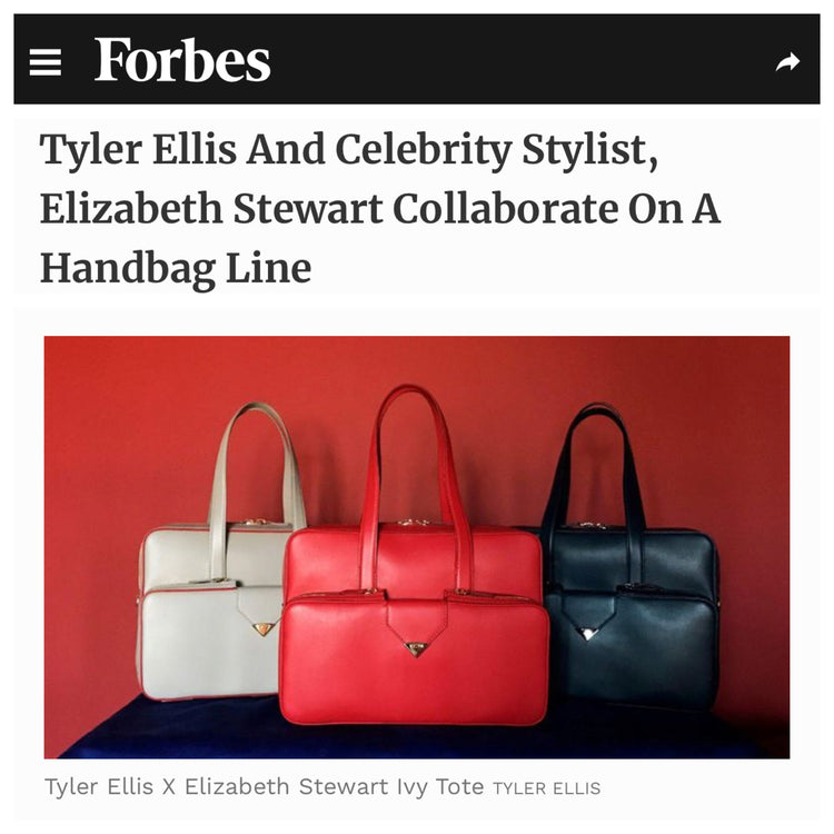 Forbes: Tyler Ellis And Elizabeth Stewart Collaborate