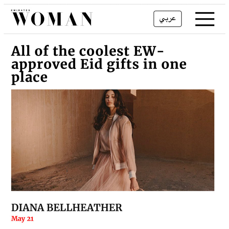 Emirates Woman Magazine Picks our Perry Clutch for the Eid Holiday