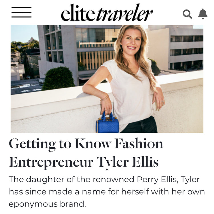 Elite Traveler Magazine talks with Tyler about building her business, the affects of Covid-19 and more!