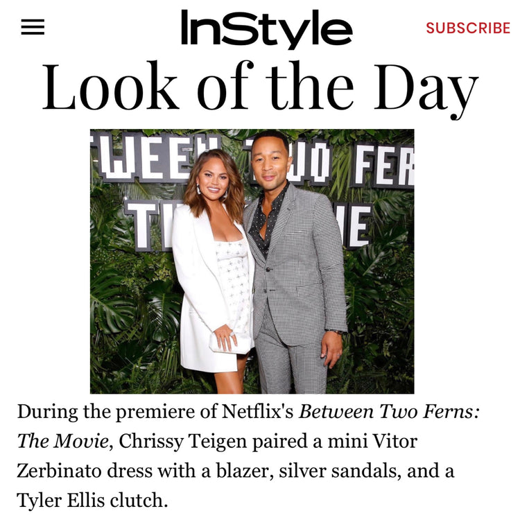 InStyle: Look of the Day - Chrissy Teigen x The Perry Clutch