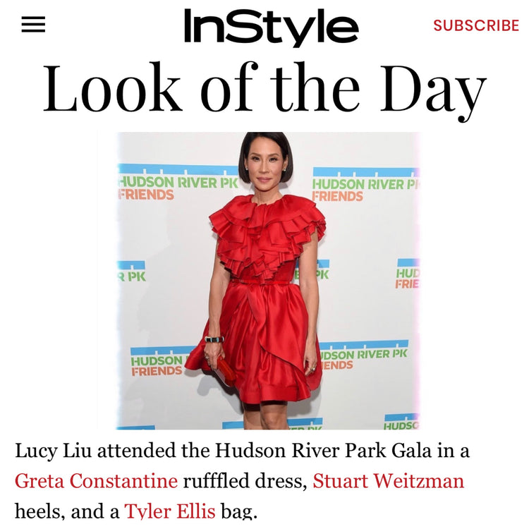 Instyle: Look of the Day - Lucy Liu x The Perry Clutch
