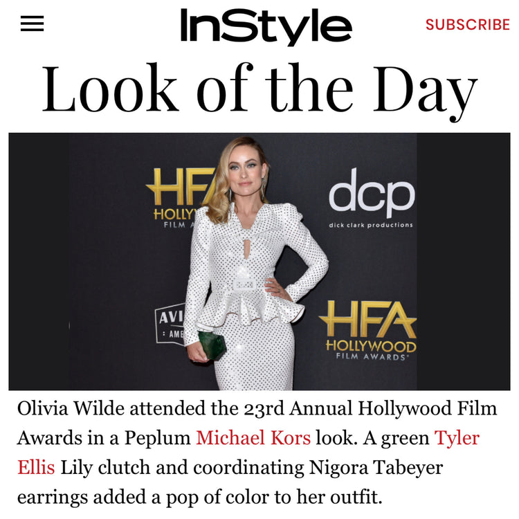 InStyle: Look of the Day - Olivia Wilde x The Lily Clutch