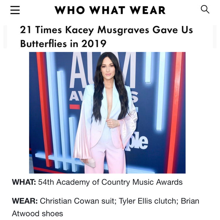 Who What Wear - 21 Times Kacey Musgraves Gave Us Butterflies in 2019