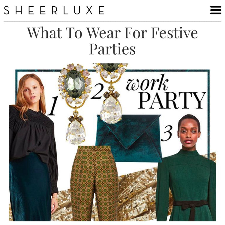 SheerLuxe Features our Signature Lee Pouchet: What to Wear for Festive Parties
