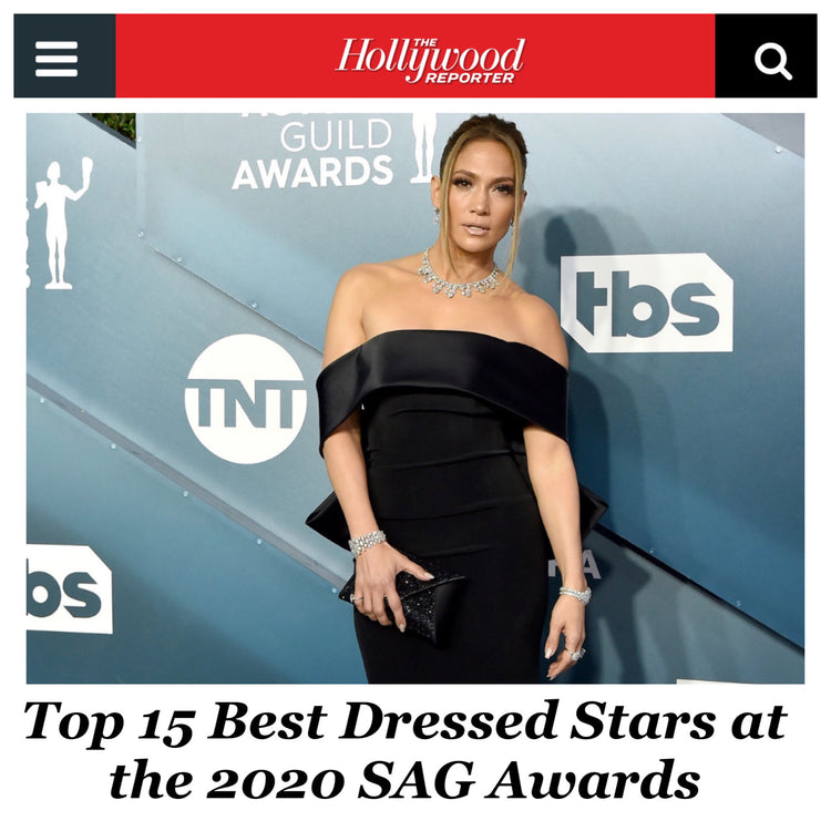 Jennifer Lopez voted Best Dressed at the 2020 SAG Awards carrying our signature Lee Pouchet!