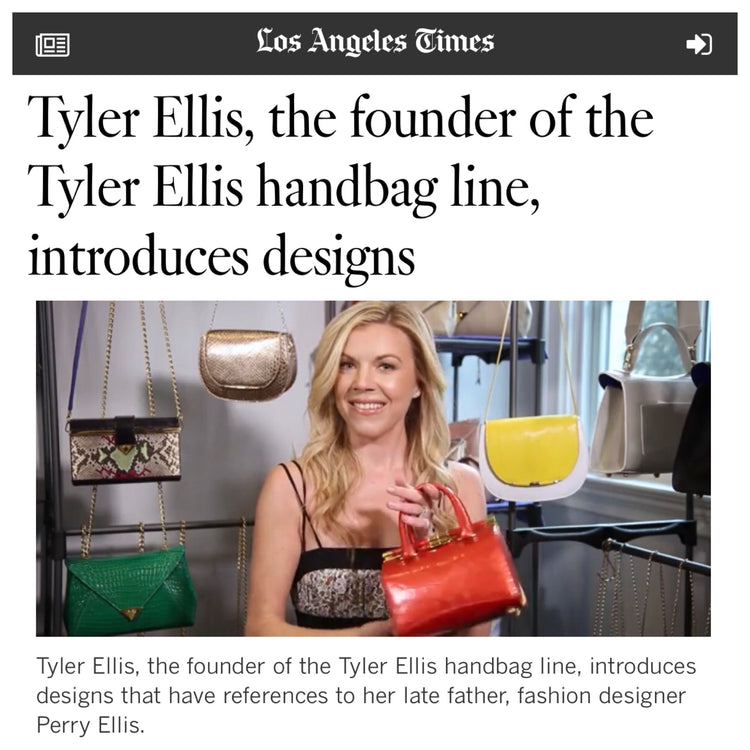 LA Times - Tyler Ellis on the Red Carpet