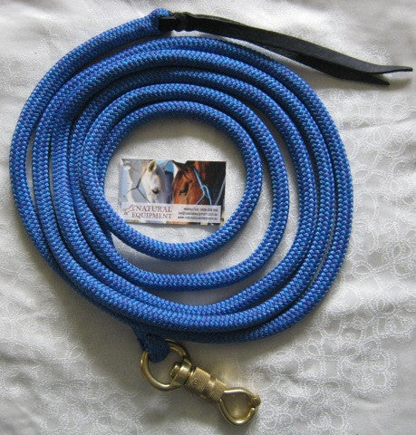 14ft Lead Rope with Brass Snap made with Tuff Tack Rope