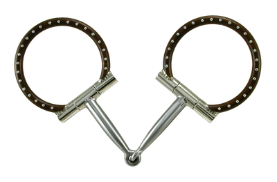 5 inch #13 Brown D-Ring Snaffle by Tom Balding