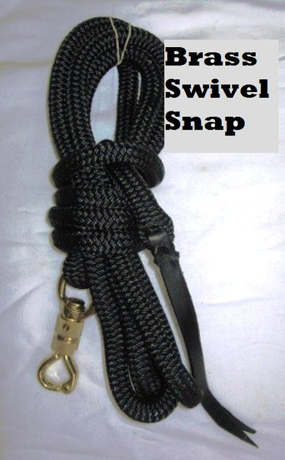 12ft Lead Rope in 14mm Rope- Choice of snap or loop