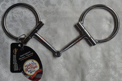 5 inch #8 Baseline D-Ring Snaffle with Copper Inlay By Tom Balding