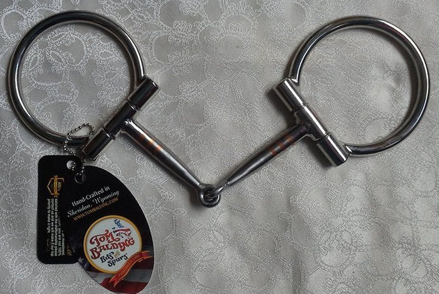 5.5  inch #8 Baseline D-Ring Snaffle with Copper Inlay By Tom Balding