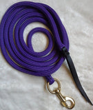 12ft Lead Rope - 12mm- Heavy Round Eye Snap - Choice of Colours - Made in Australia