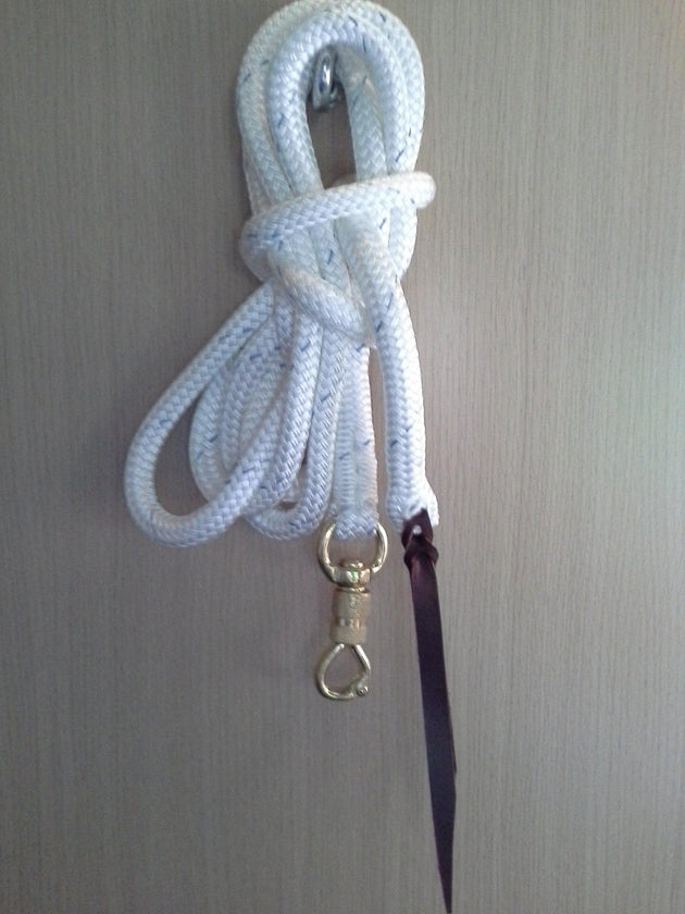 22ft Lead Rope with Brass Snap - 12.5mm- Professional Range