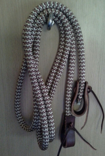Loop Reins with Water Straps and Leather Poppers
