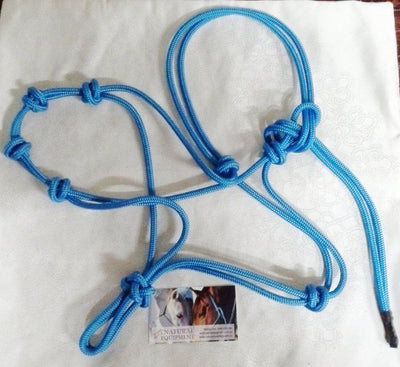 Halter- 4 Noseband Knots - 5mm Stiff Rope - Made in Australia - Choice of Sizes/Colour