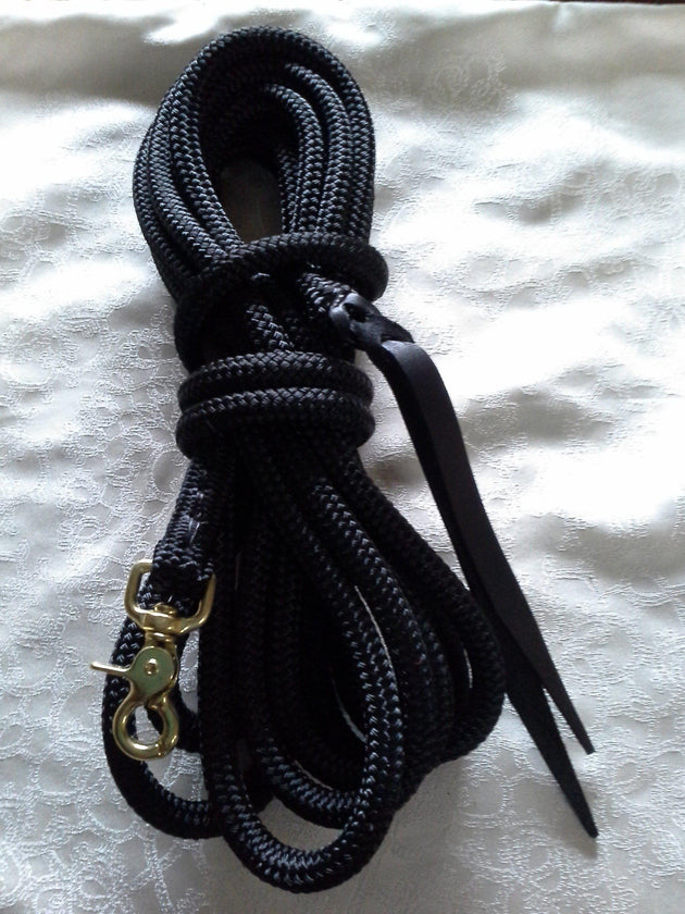 25ft Line with 10mm Rope, Liberty/Long Rein w CLIP made in Australia