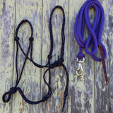 2 Noseband Knot 6mm Rope Halter & 10ft Lead 12mm with Loop/Bull Snap Made in Australia