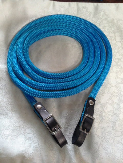 Rope Reins with Leather Buckled Ends