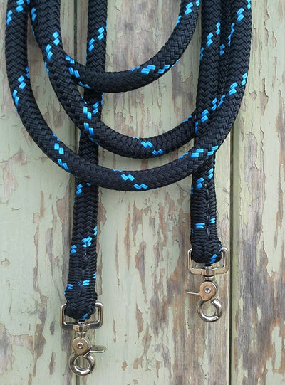 Clip On Rope Reins - 14mm Rope - made in Australia