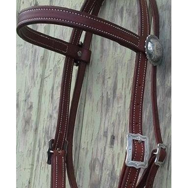 Antique Wild Rose Bridle Headstall