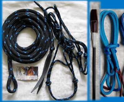 Basic Kit Tuff Tack Rope<br>Halter, 12ft Lead, Stick & String.