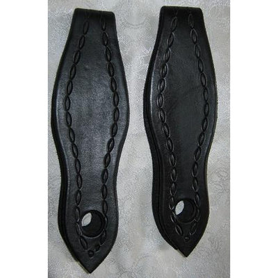 Black Stamped Rein Leathers by Natural Equipment