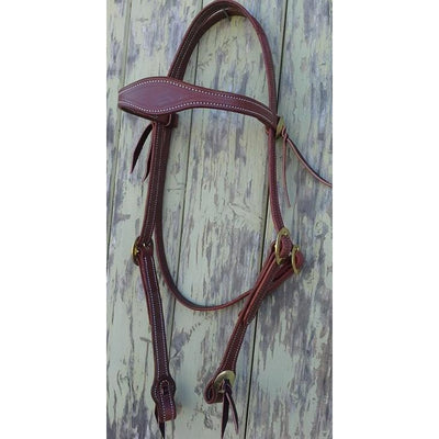 Brass Concho Bridle Headstall