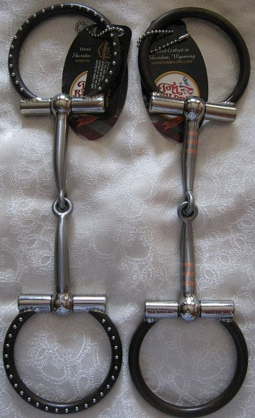 5 inch #15 Brown Ballhinge D-Ring Snaffle By Tom Balding