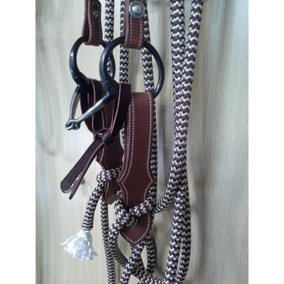 Brown Fancy Shaped Stitched Slobber Straps