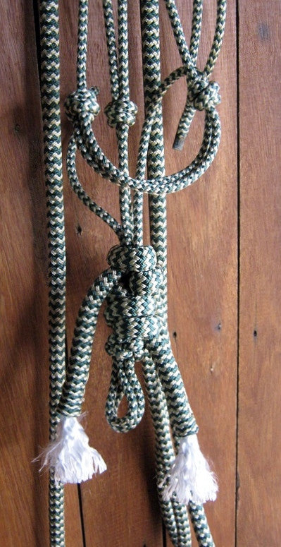 Rope Hackamore with Sports Reins (Loop Reins) made in Australia
