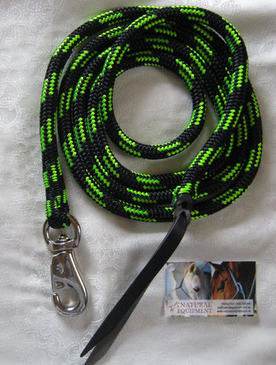12ft Lead Rope- 12mm- with Bull Snap- Choice of Colours - Made in Australia