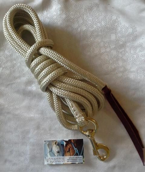 12ft Lead Rope Heavy Round Eye Snap made with Tuff Tack Rope