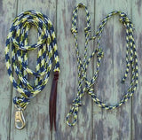 2 Noseband Knot 6mm Rope Halter & 12ft Lead 12mm with Loop/ Bull Snap Made in Australia