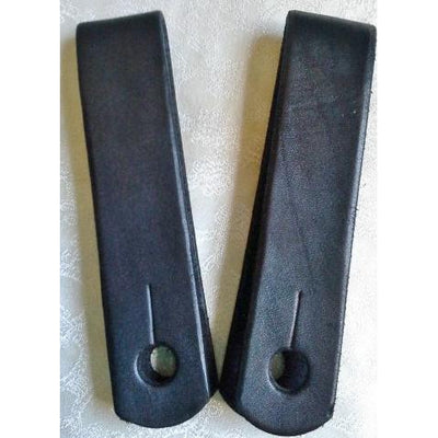 Plain Black Slobber Straps - 6 inch length