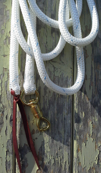 14ft Lead Rope - 12.5mm- Brass Swivel Snap-Professional Range- Made in Australia