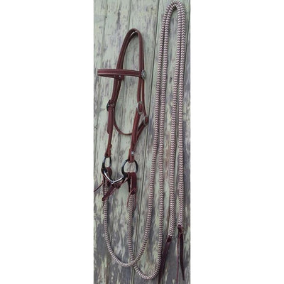 Western Concho Bridle Set w Split Reins with Water Straps