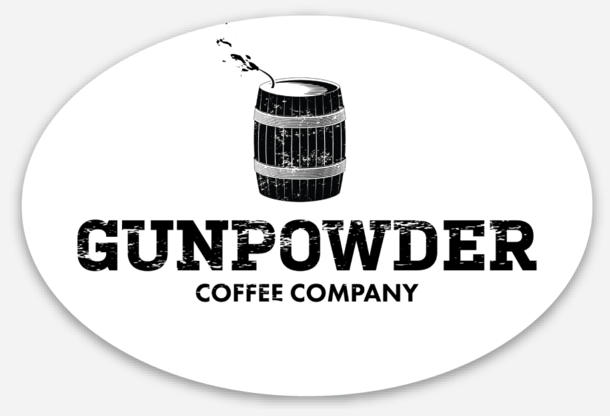 Gunpowder Coffee Company Oval Stickers