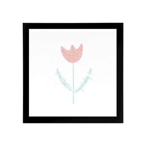 Tulip Art Print with Quote
