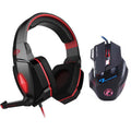 EACH Stereo Gaming Headphones + LED Gaming Mouse