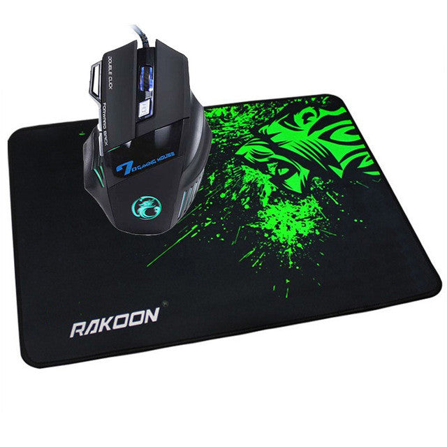 LED Wired Gaming Mouse + Green Mouse Pad