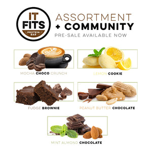 PRE-ORDER It Fits Bar Community (GARY VEE IDEA) and a box of 12 assorted It Fits bars!