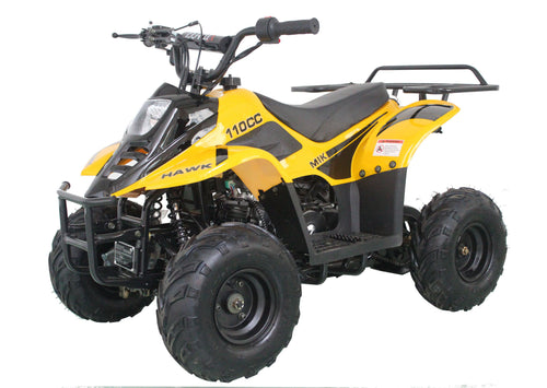 Cougar  HAWK 6 110cc ATV, Single Cylinder, 4 Stroke, Air-Cooled Free Shipping with Remote