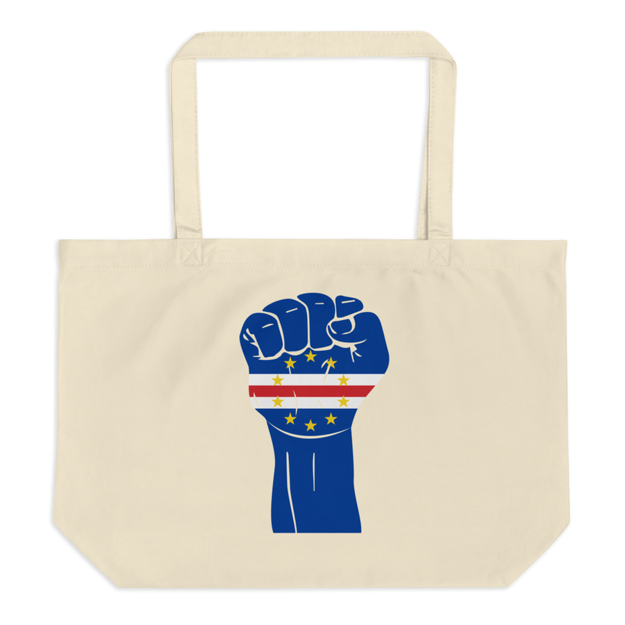 RAISED FIST 'CABO VERDE' — Organic Tote Bag