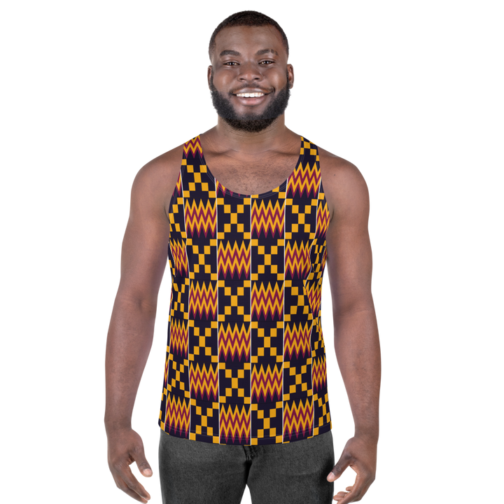 Asante Kente Print 'Aduonu nan' — Men's Tank Top