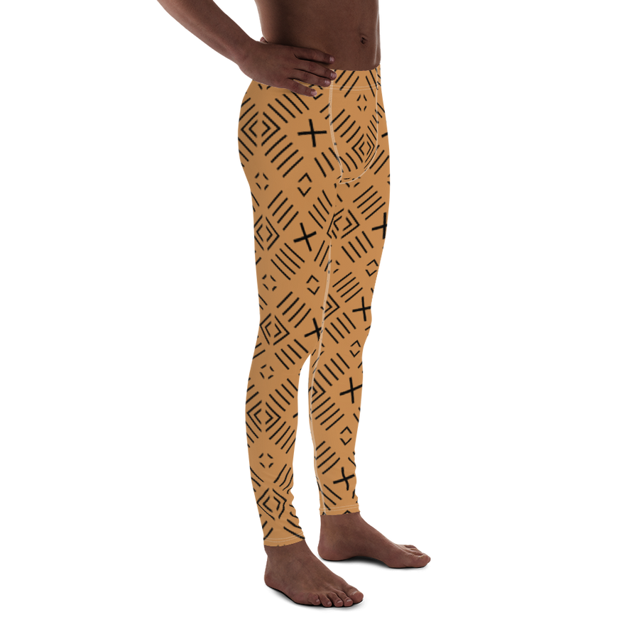 BÒGÒLANFINI 'FILA' (SAND/BLACK) — Hand-sewn Men's Leggings