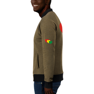 THREE HEARTS (RASTA) — Men's Bomber Jacket
