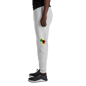 RAISED FIST 'AFRICA' (BLACK/RASTA) — Women's Sweatpants
