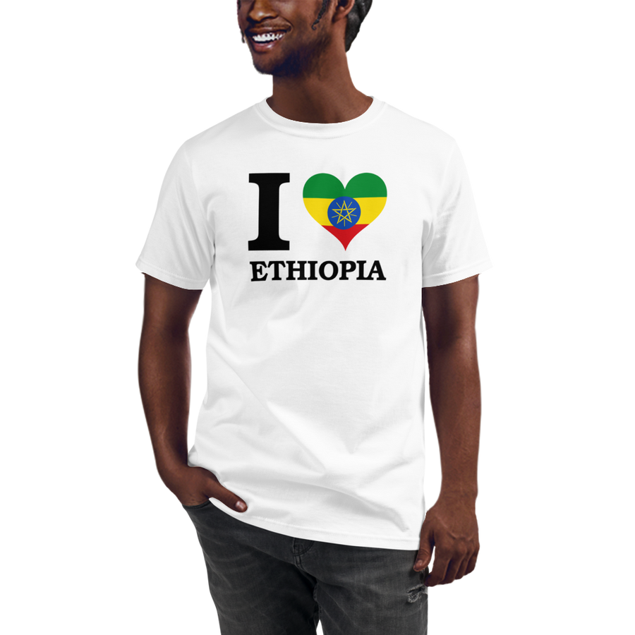 I ❤ ETHIOPIA (BLACK) — Men's Organic T-shirt