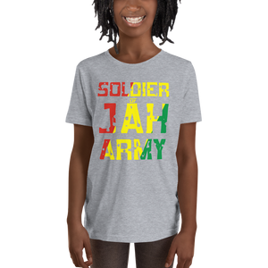 SOLDIER OF JAH ARMY (RASTA) — Short-sleeved Youth T-shirt