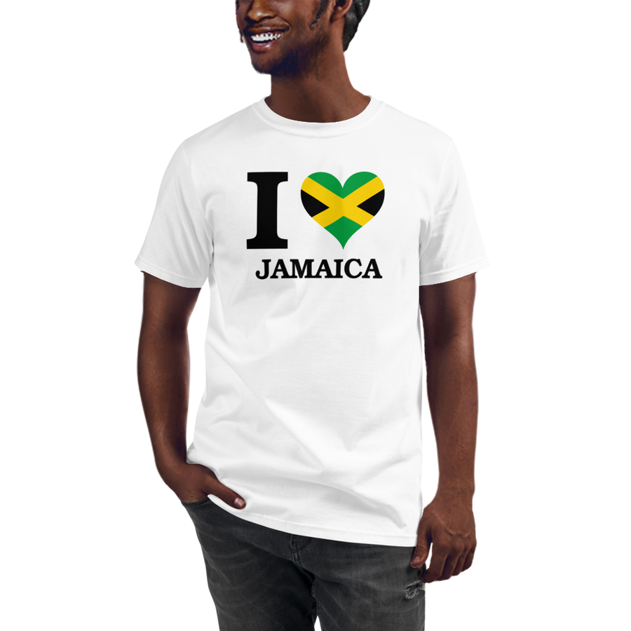 I ❤ JAMAICA (BLACK) — Men's Organic T-shirt